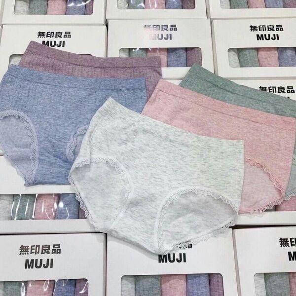 Quần lót nữ Muji hộp 5c quần tăm tre cotton