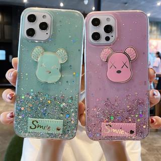 Casyva Casing Xiaomi Redmi S2 K40 K30 K20 Pro 5A 4X Note 6 5 Pro 4 4X Star Glitter Cartoon Gloomy Bear Soft Phone Case Cover