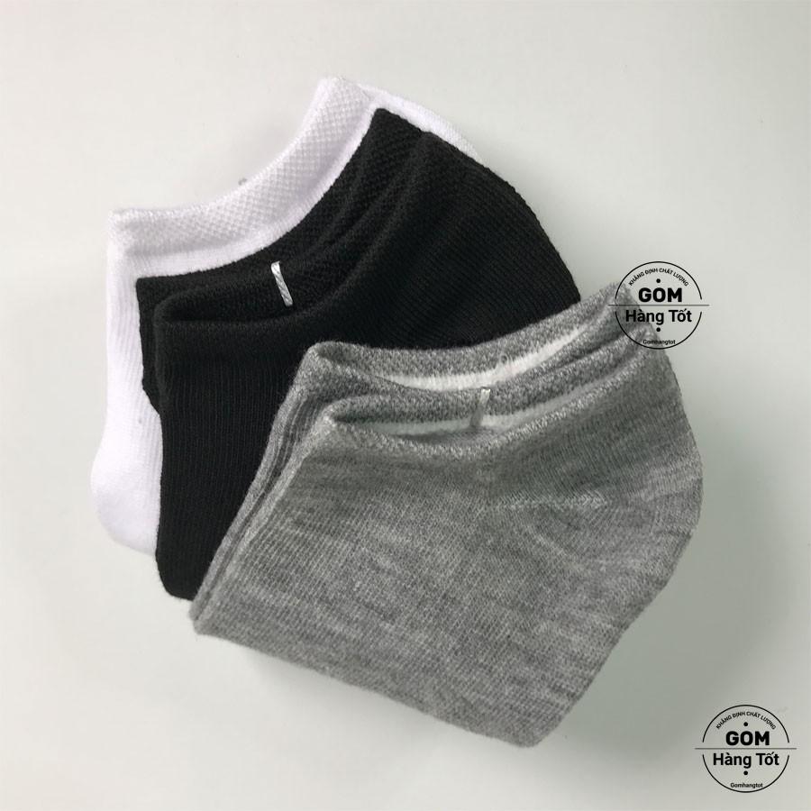 Tất trơn CỔ NGẮN Nam Nữ VNXK chuẩn xuất Nhật chất liệu cotton thoáng mát khử mùi