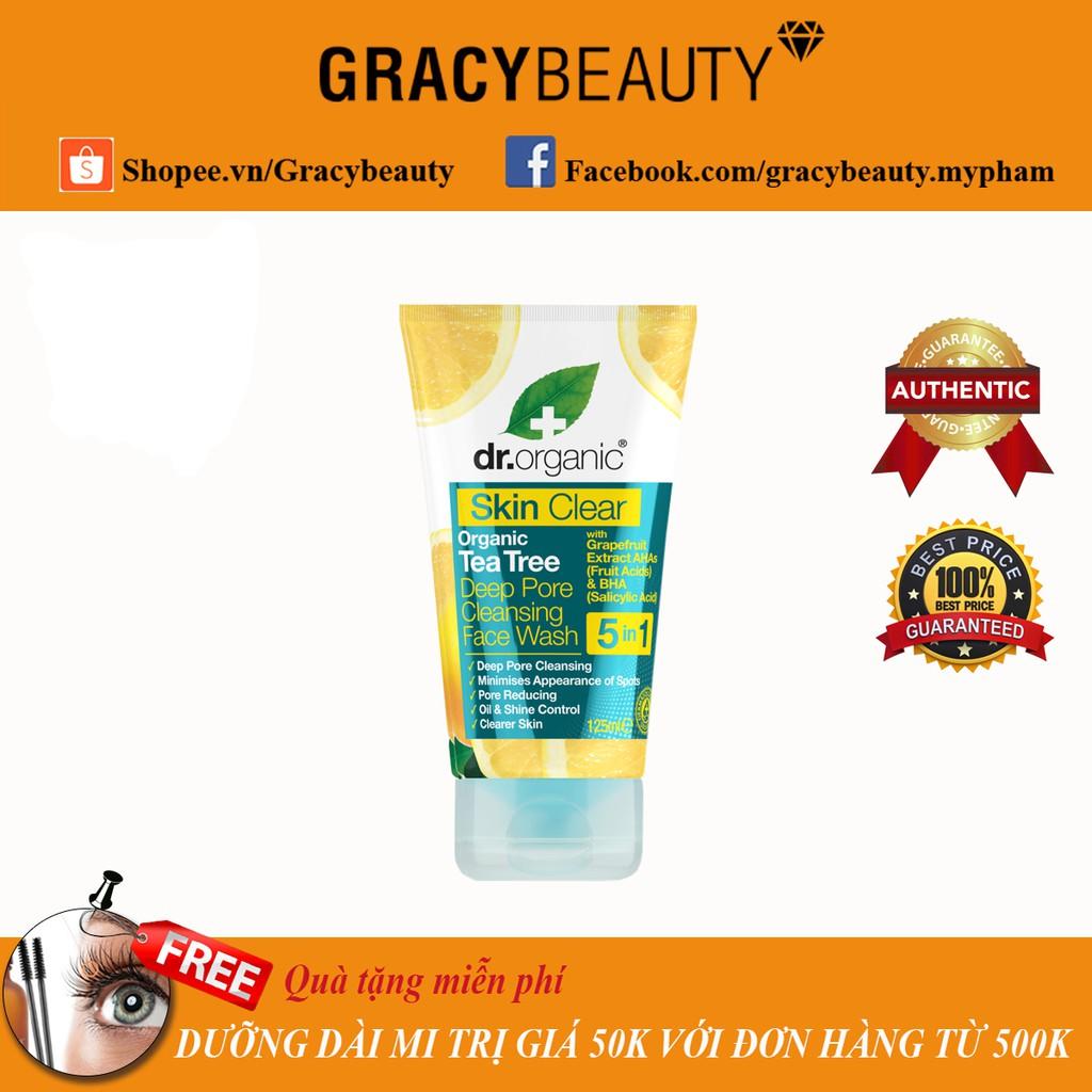 Sữa rửa mặt cho da dầu mụn Deep Pore Face Wash 125ml Dr.Organic