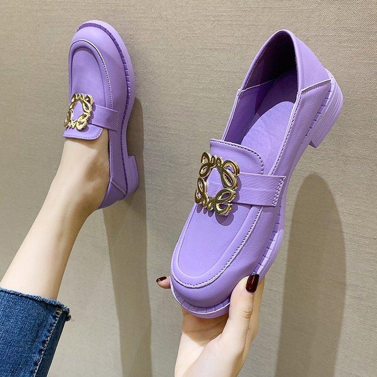Giày Lười Đế Bằng Hai Màu Thời Trang Cho Nữ