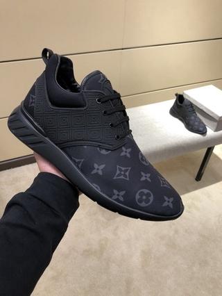 Lv thời trang giày thể thao nam màu đen da thật giày nam giày thể thao nam giày thường 38-44