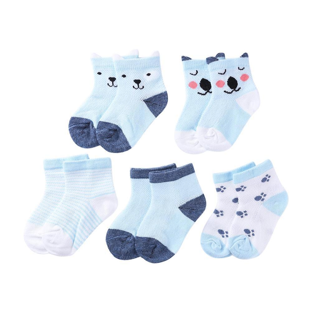 ღTay 5pairs/Lot Cartoon Toddlers Kids Socks