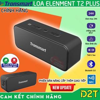 Tronsmart Element T2 Plus   BẢN NÂNG CẤP   Loa bluetooth 5.0/NFC, công suất 20W, kháng nước IPX7, 24 giờ hoạt động