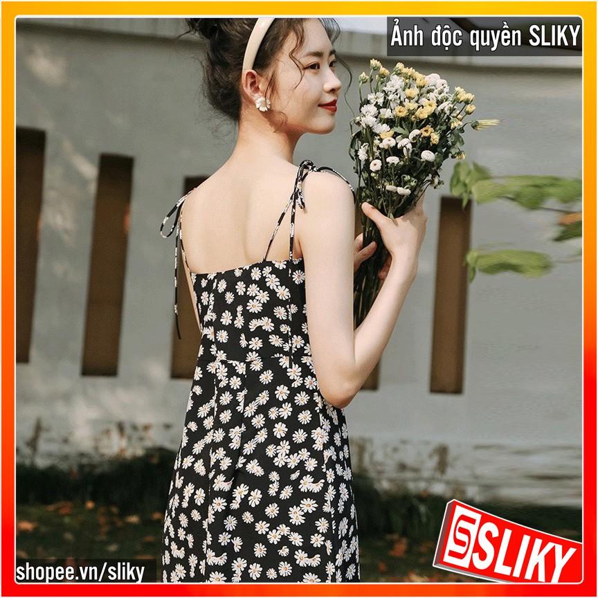 Đầm 2 Dây Nữ 🦋 Váy Hồng 2 Dây Hoa Nhí Vintage 3 Màu 🦋