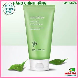 [Mẫu Mới] Sữa Rửa Mặt Innisfree 150ml [Sạch mụn 100%] Sữa Rửa Mặt Chiết Xuất Từ Trà Xanh Innisfree Green Tea Foam thumbnail