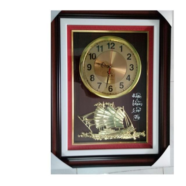 Tranh đồng hồ treo tường kích thước 50*60