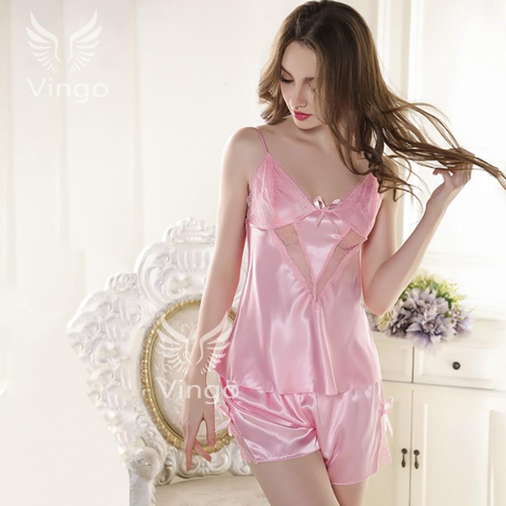 Bộ đồ ngủ lụa cao cấp Emma màu hồng thương hiệu Vingo - 3354458 , 787610462 , 322_787610462 , 260000 , Bo-do-ngu-lua-cao-cap-Emma-mau-hong-thuong-hieu-Vingo-322_787610462 , shopee.vn , Bộ đồ ngủ lụa cao cấp Emma màu hồng thương hiệu Vingo
