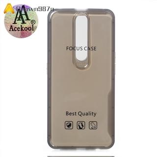 【Chất lượng tốt】 Acekool for OPPO F11 Ultra Slim Translucent Back Cover Non-slip Shockproof TPU Full Protective Case
