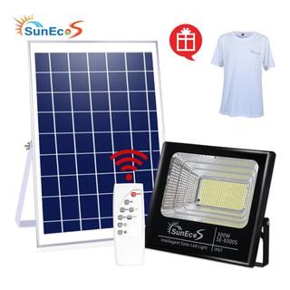 Đèn năng lượng mặt trời Suneco, đèn pha led năng lượng mặt trời, chống nước IP67, tặng kèm mũ/áo Suneco, BH 24 tháng