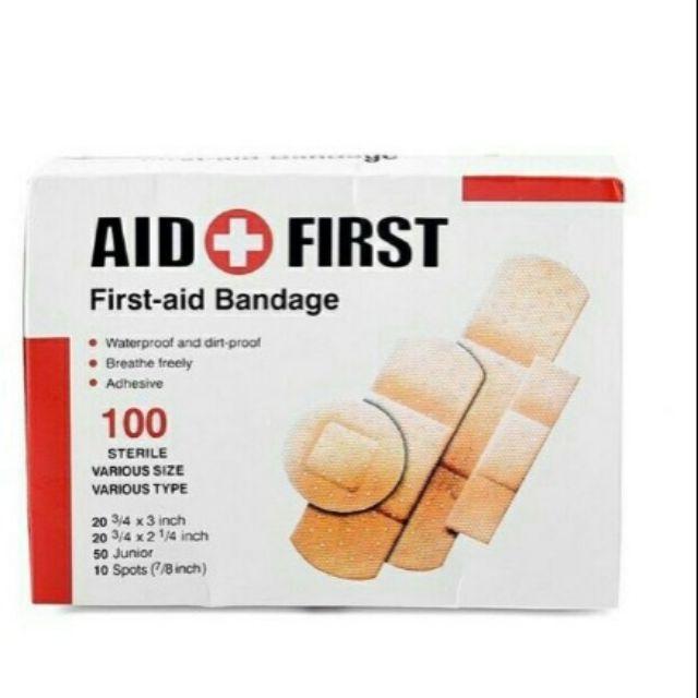 Hộp 100 miếng AID FIRST URGO kích thước khác nhau tiện ích