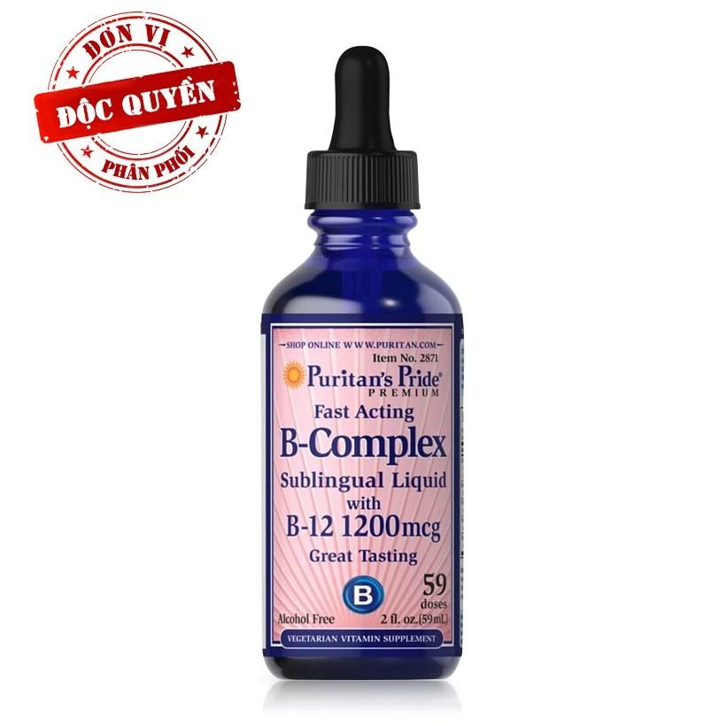 Bổ thần kinh, giảm căng thẳng B - complex Sublingual Liquid B complex & vitamin B 12