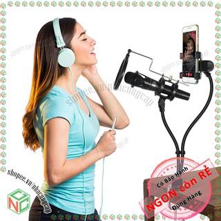 Bộ giá đỡ micro có màng lọc - đỡ smartphone , camera mini để livestream - NDHS-5245-LiStre