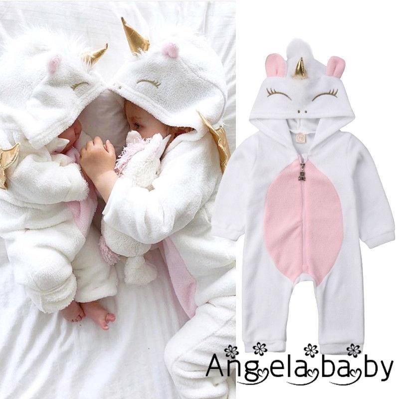 Bộ đồ liền thân kiểu hình kỳ lân dễ thương dành cho bé