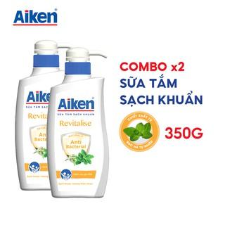 Aiken Combo 2 Sữa Tắm Sạch Khuẩn Chiết Xuất Bạc Hà 350g chai thumbnail