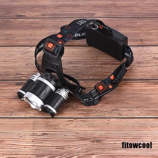 FCVN 1PC Waterproof 3X T6 LED Headlamp Headlight Flashlight Head Torch 18650 Camp Super
