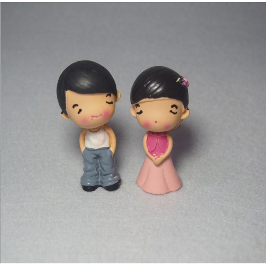 FREESHIP ĐƠN 99K_Mô hình đôi vợ chồng dùng trang trí tiểu cảnh, nhà búp bê