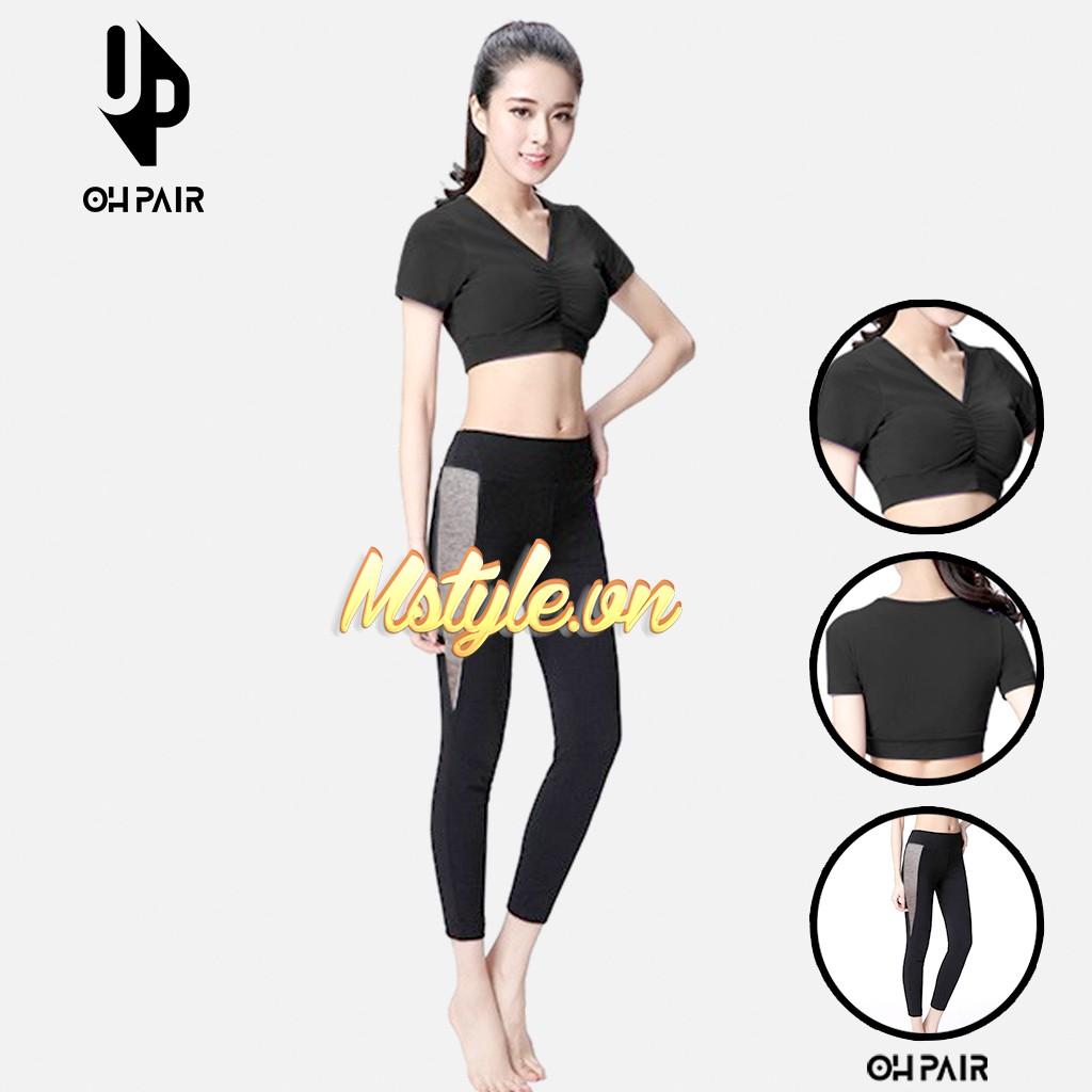 Đồ tập gym nữ, set đồ tập gym yoga nữ vải thun mềm mịn co dãn 4 chiều OPG01