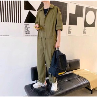 [Hàng đặt trước] Bộ áo liền quần Jumpsuit nam kiểu dài