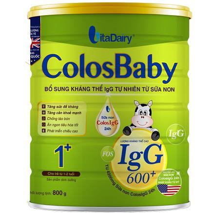 Sữa non Vitadairy Colosbaby 600 IgG I+ 800Gr/hộp