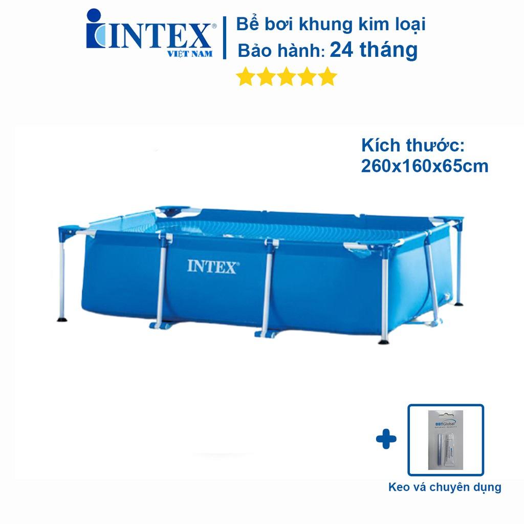 Bộ bể bơi khung kim loại trẻ em chính hãng INTEX mẫu mới 2021 chịu lực cực tốt