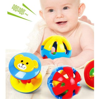 YY3 Pcs Set Baby Infant Kid Toy Musical Instrument Plastic Shaker Bell Ring Ball