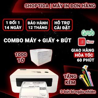 Máy in nhiệt Shoptida SP46 kèm 1000 tờ giấy in nhiệt decal 10x15cm in đơn hàng, tem barcode thumbnail