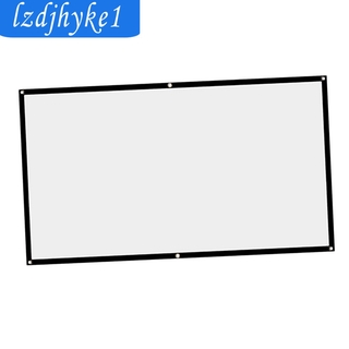 SafeTrip 60inch 16:9 Projection Screen Cloth Home Theater Film Projector Cloth Curtain