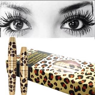 [Hàng mới về] Bộ gel cấy mi & mascara đen sợi tự nhiên 3D chống thấm nước thiết kế vỏ họa tiết da báo thumbnail