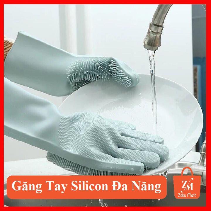 [Ảnh Thật+Video][Loại 1] Găng Tay Silicon Kiêm Miếng Rửa Bát Tiện Lợi