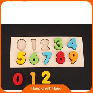 Đồ chơi xe kéo thả hình khối và số bằng gỗ_Đảm bảo chất lượng