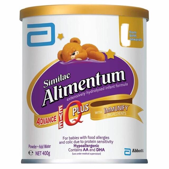 Sữa bột Similac Alimentum 400g cho trẻ dị ứng đạm sữa bò