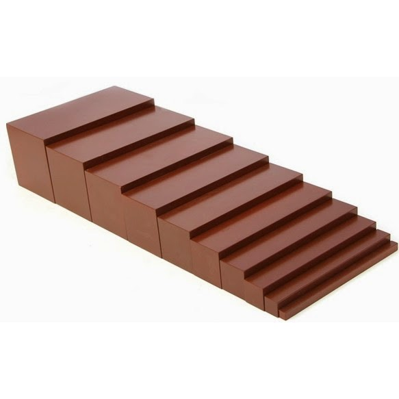 Thang nâu loại nhỏ Montessori - Mini Brown stair