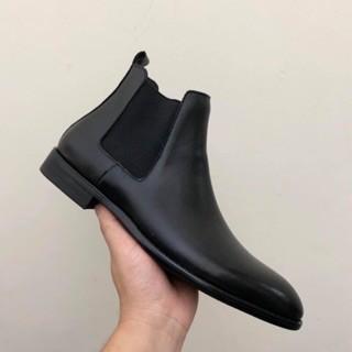 Giày Chelsea Boot Classic, Giầy bốt nam Tặng Lót Tăng Chiều Cao 5cm