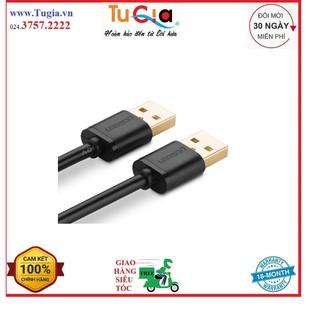 [Mã ELORDER5 giảm 10K đơn 20K] Dây USB 2.0 mạ vàng 2 đầu đực dài 0.5M UGREEN US102 10308 - Hàng Chính Hãng