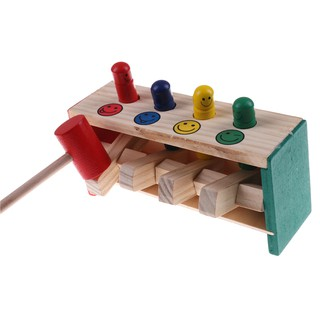 ☆VN Baby Wooden Hammer Toys Child Musical Instrument Educational Wooden Toy
