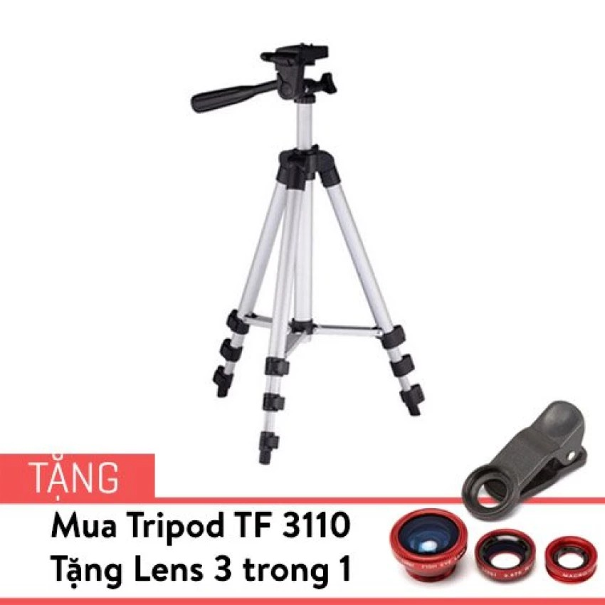 Tripod TF 3110 tặng bộ Lens 3 trong 1 tạo hiệu ứng