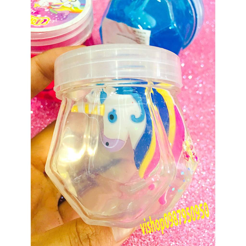 đồ chơi slime lọ mềm dẻo có hình ngựa mã ZSH48 YMS3460