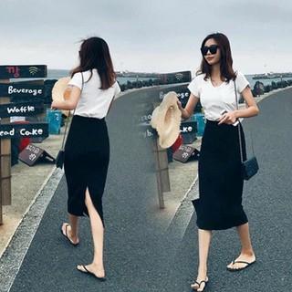 Chân váy bút chi dáng dài xẻ sau,chất umi cao cấp co giãn 4c cực thoải mái cho nàng