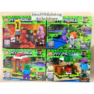 Lắp ráp xếp hình lego minecraft my world 63007 : Kiếm kim cương và quái vật (Khách hàng chat chọn mẫu)
