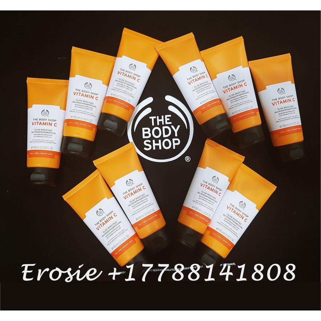 Kem tẩy da chết Vitamin C Microdermabrasion The Body Shop