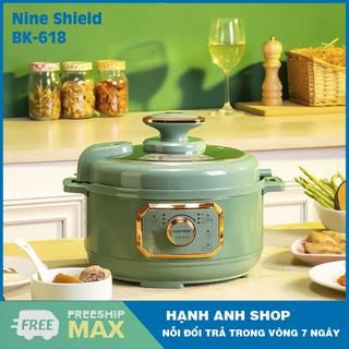 [ Hàng Nội Địa ] Nồi Áp Suất Điện Đa Năng Nine Shield KB-618 - Nhiều chế độ nấu bảo toàn dinh dưỡng - Bảo Hành 12 Tháng thumbnail