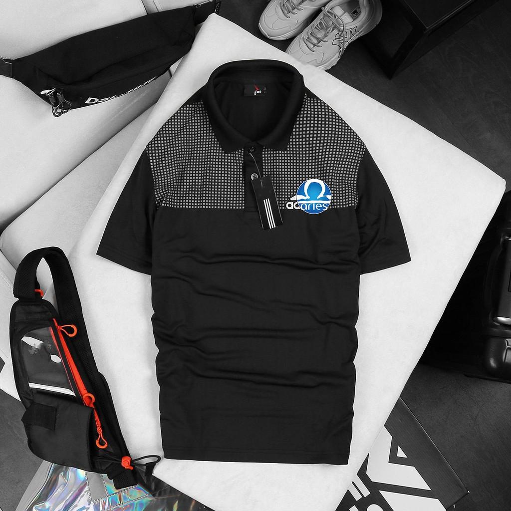 Áo thun có cổ polo nam Adi Ess Polo ss21 in họa tiết chuyển nhiệt - ARIES