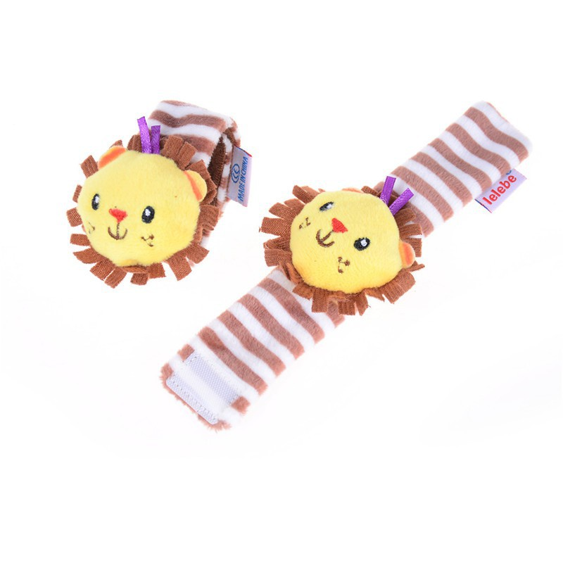 Shape Soft Toy Animal Baby Kids Hand Wrist Bells Foot Sock