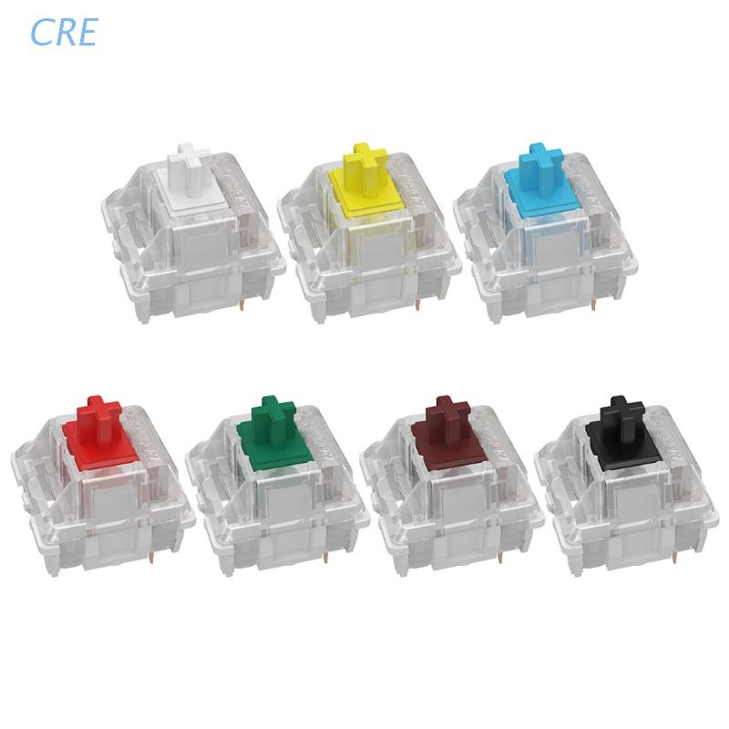 CRE  Gateron 3Pin Switches black red brown blue clear green yellow SMD LED Gateron Switch for Mechanical Keyboard fit MX GK61