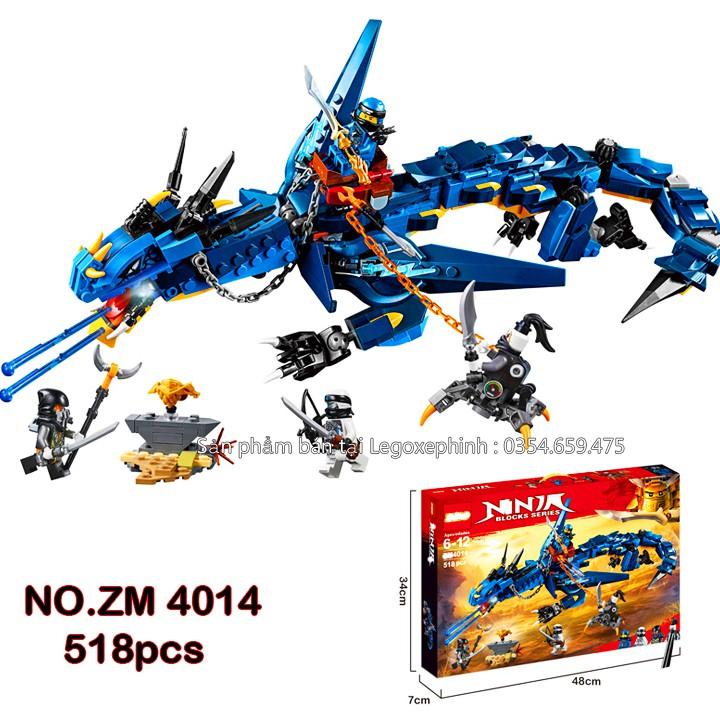 Bộ Lego Xếp Hình Ninjago Siêu Robot Rồng Xanh. Gồm 518 Chi Tiết. Lego Ninjago Lắp Ráp Đồ Chơi Cho Bé.