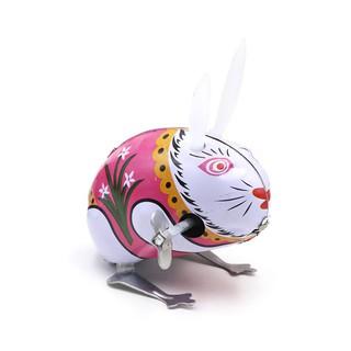 ἯҨⱣVintage Cartoon Handmade Wind-up Jumping Rabbits Kids Easter Clockwork Toys Ornaments