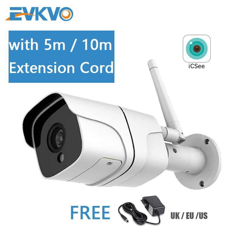 Camera an ninh IP Evkvo - Icsee Xmeye Wifi Hd 1080p không dây chống thấm nước hồng ngoại 2 chiều