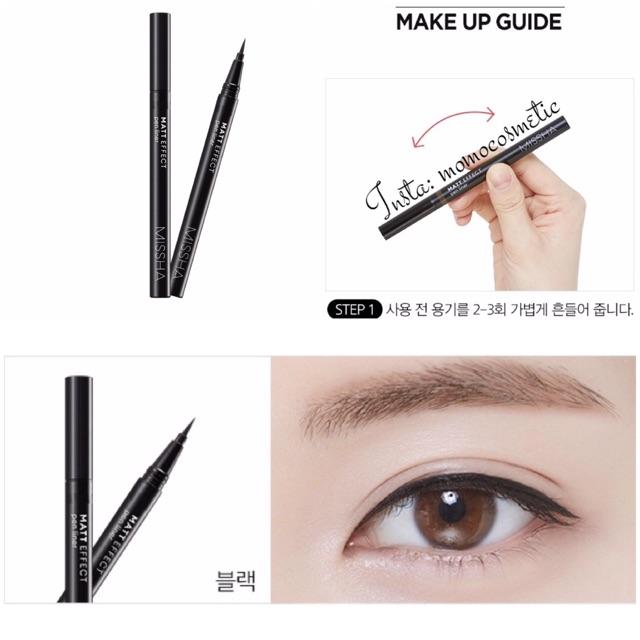 Kẻ mắt nước Matt Effect Pen Liner Missha