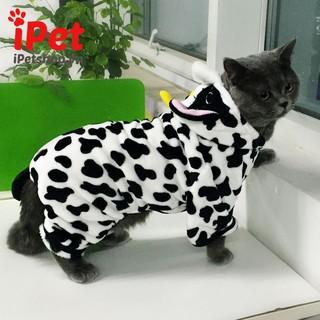 Bộ Quần Áo Thun Cho Thú Cưng Chó Mèo Hình Bò Sữa Dễ Thương - iPet Shop thumbnail